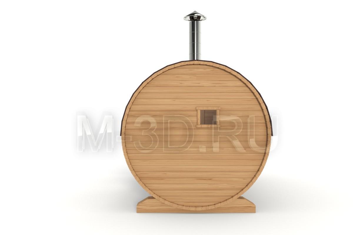 баня бочка в разрезе 360 градусов
