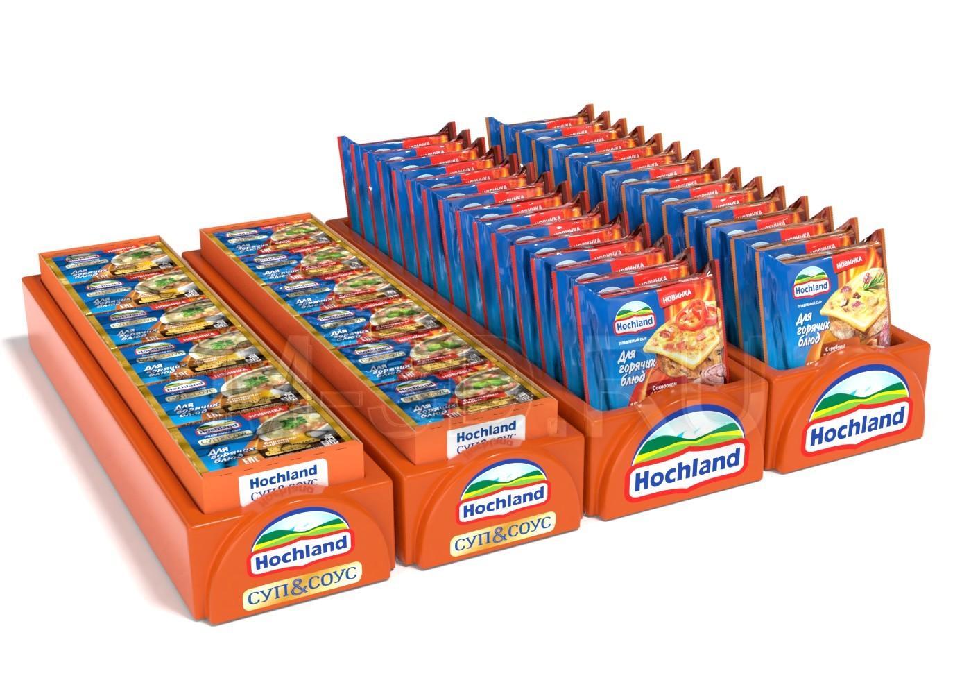 упаковка поддон сыр Hochland