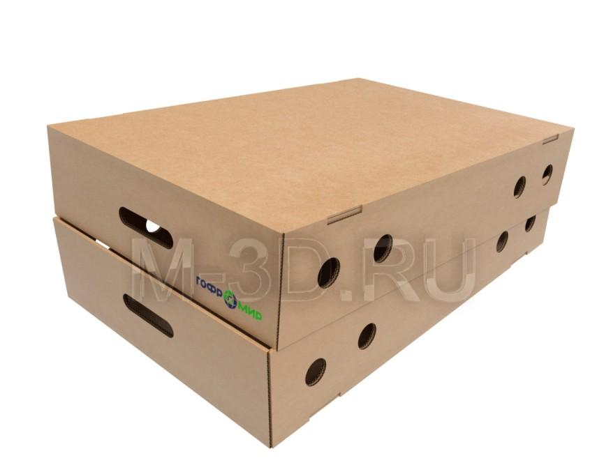 коробка для овощей с крышкой картонная