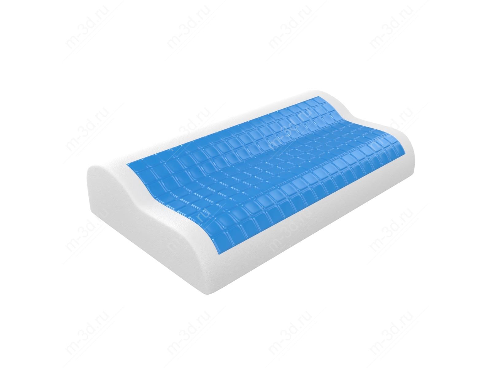 Подушка с эффектом памяти с гелем