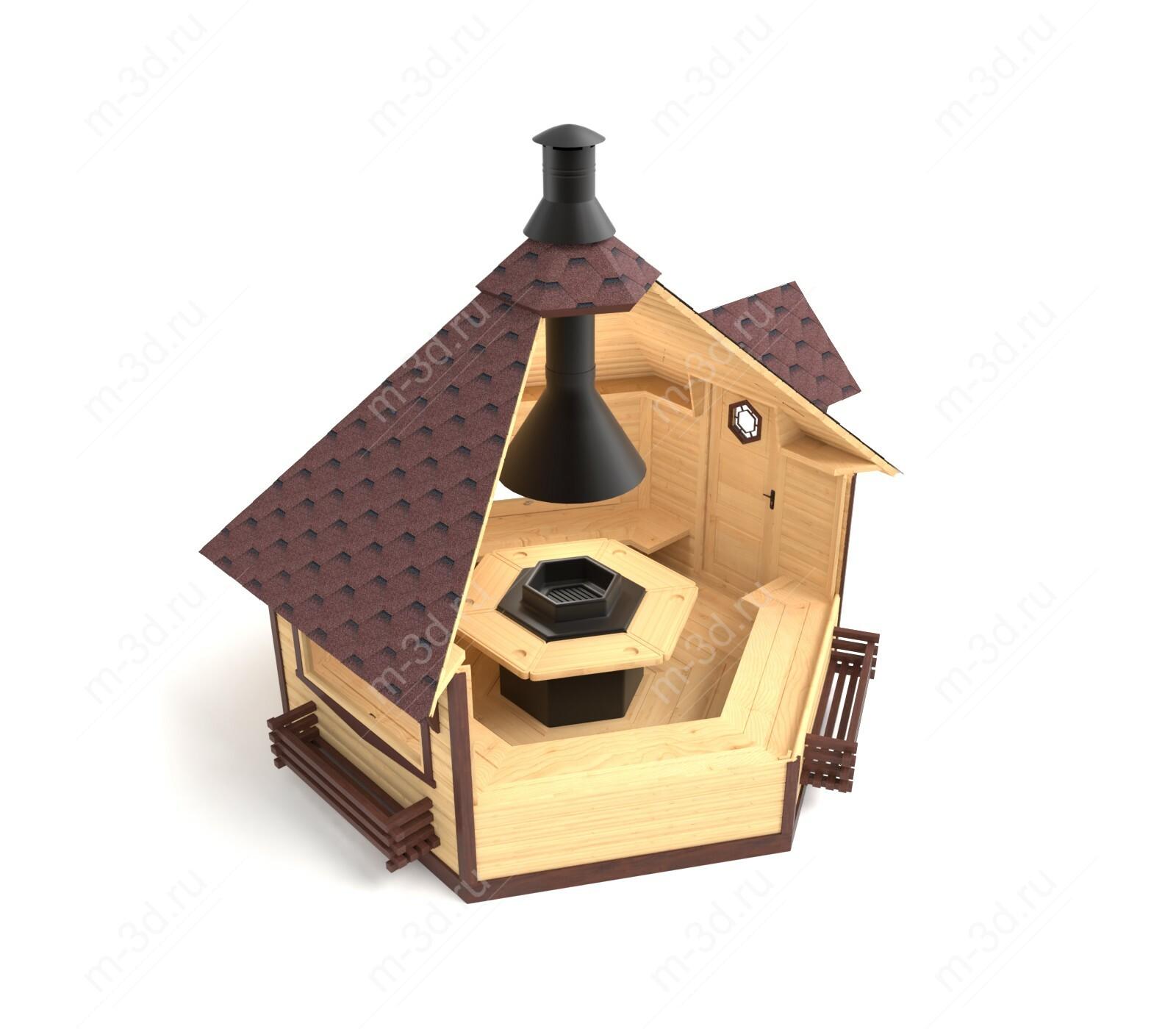 домик для пикника разрез