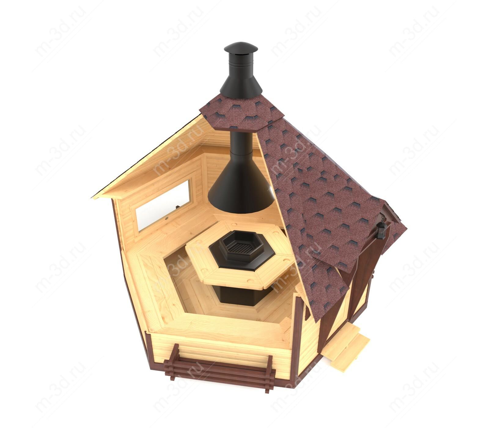домик для пикника разрез 2